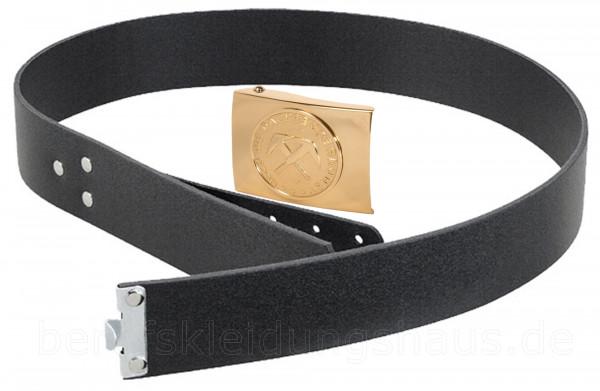 Lederkoppel mit Schloß Dachdecker Meisterschloß gold Gürtel Koppelriemen Koppelschloß