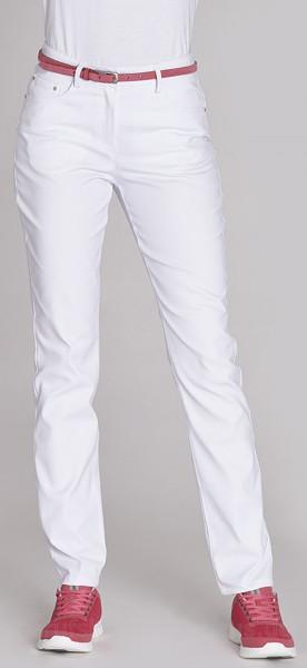 Leiber Damenhose Stretch Five-Pocket-Jeans weiß Beinlänge 80cm