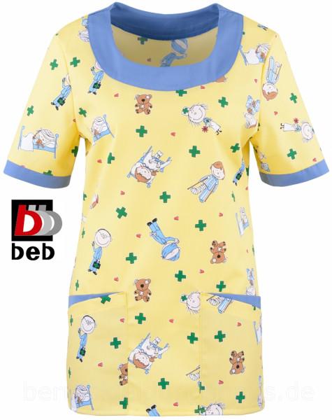 beb Damenkasack Schlupfkasack Kasack 1/2 Arm Kindermotiv