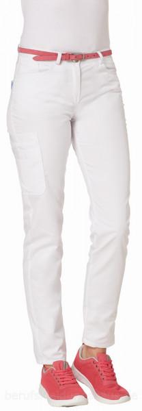 Leiber Damenhose Jeansform weiß CLASSIC-STYLE Beinlänge 80cm