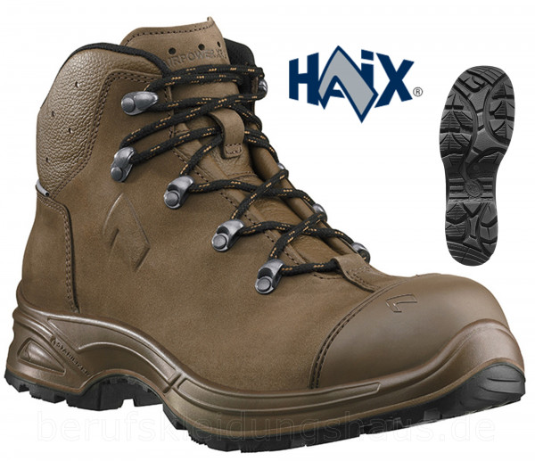 Haix Airpower XR26 S3 Hochschuhe Sicherheitsschuhe Arbeitsschuhe braun