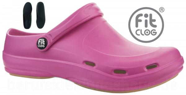 FitClog Basic 001 Clog Arbeitsschuhe Berufsschuhe pink oder türkis