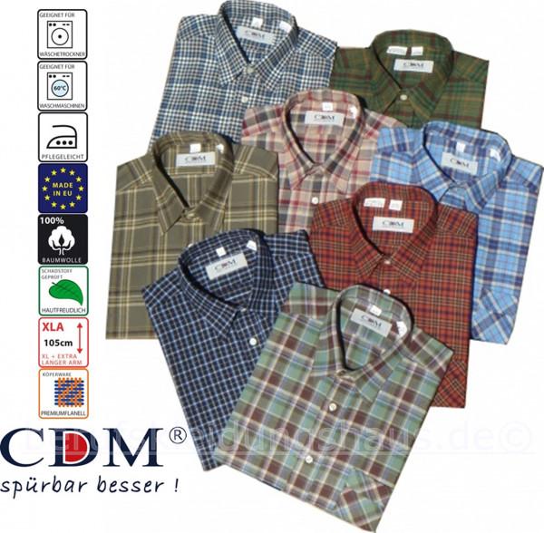 CDM Arbeitshemd 3er Set 1/1Arm 69cm Flanellhemd 100cm verschiedene Dessin kariert