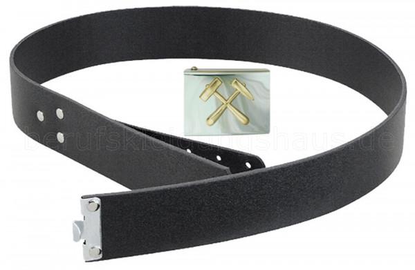Lederkoppel mit Schloß Bergmann silber Gürtel Koppelriemen Koppelschloß