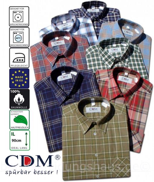 CDM Arbeitshemd 3er Set 1/2Arm Sommerhemd verschiedene Dessin kariert