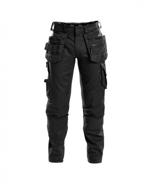 DASSY® FLUX Arbeitshose mit Stretch, Holstertaschen und Kniepolstertaschen Bundhose