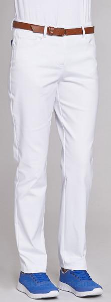 Leiber Damenhose Stretch Five-Pocket-Jeans weiß Schrittlänge 75cm