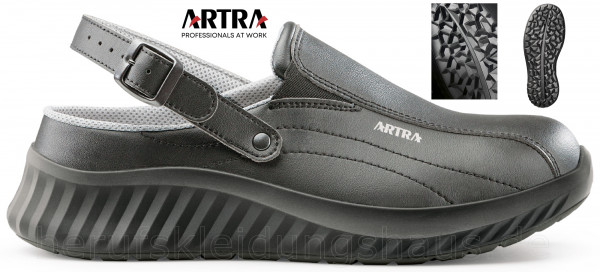 Artra Arva 6017 OB Arbeitsclog Arbeitschuhe schwarz
