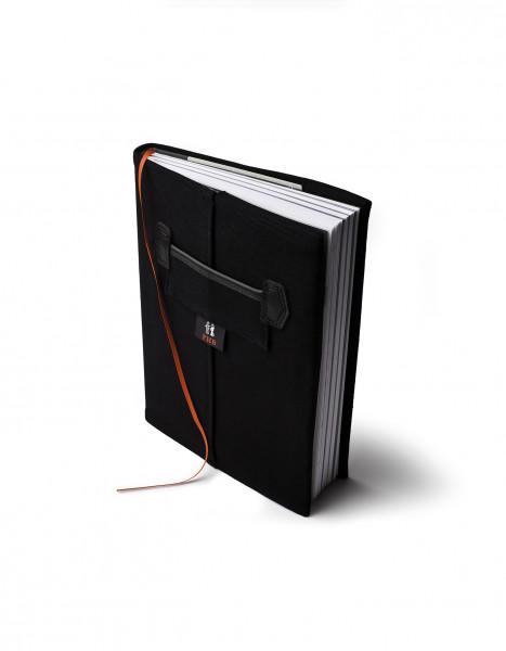 FHB ROLF 94000 Notizbuch mit Kalendarium, SCHWARZ