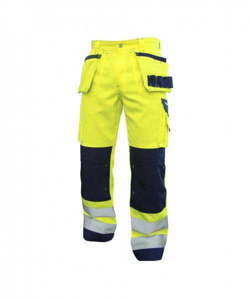 DASSY® Glasgow Warnschutzhose mit Holstertaschen und Kniepolstertaschen Arbeitshose Bundhose