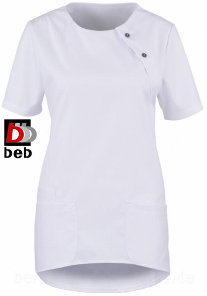 beb Damenkasack Schlupfkasack Kasack 1/2 Arm weiß